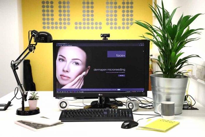 Website design in Scotland for Face Plus Stirling