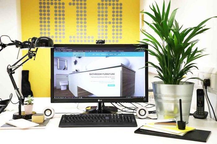 Website design for Perth bathroom company Premier Bathrooms