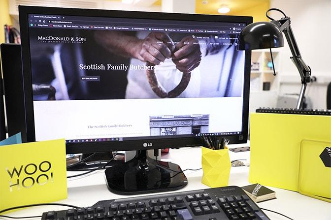ecommerce website design in dundee