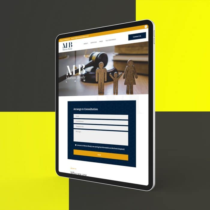 law firm website design dundee